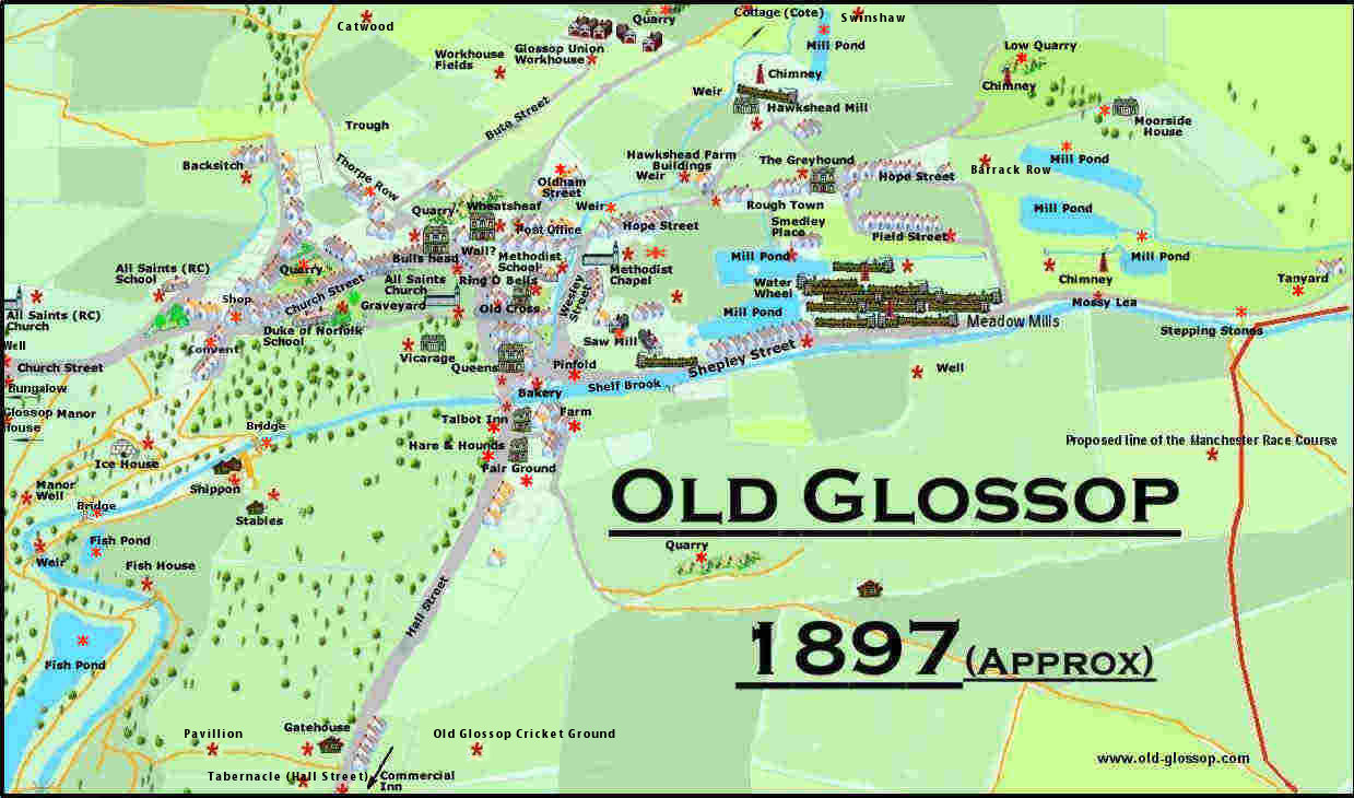 Historic Map of Old Glossop